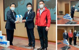北九州市にてマスクを寄贈させていただきました。